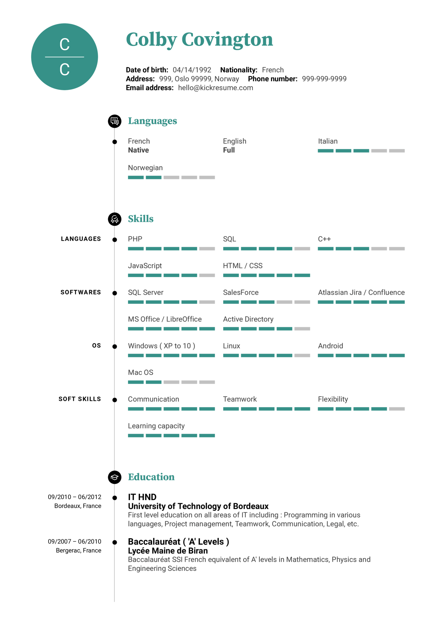 Technical Support Engineer at Xeneta Resume Sample (Part 1)
