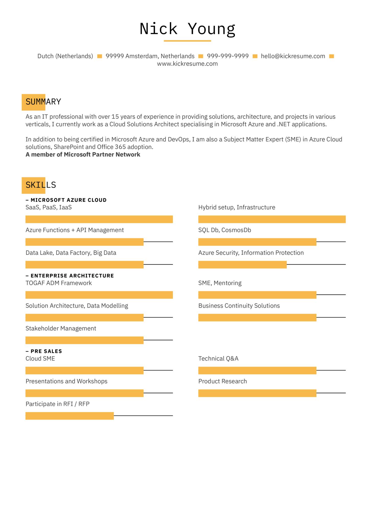 Integration Engineer Resume Sample (časť 1)
