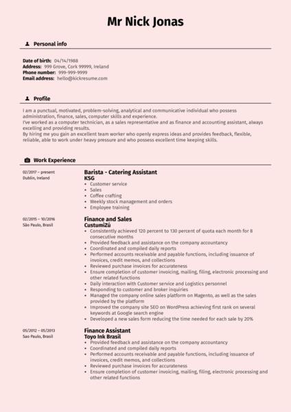 Licensing Administrator at Arvato CV Sample