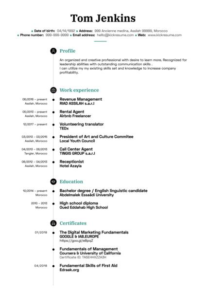 Digital Marketing Coordinator CV Sample