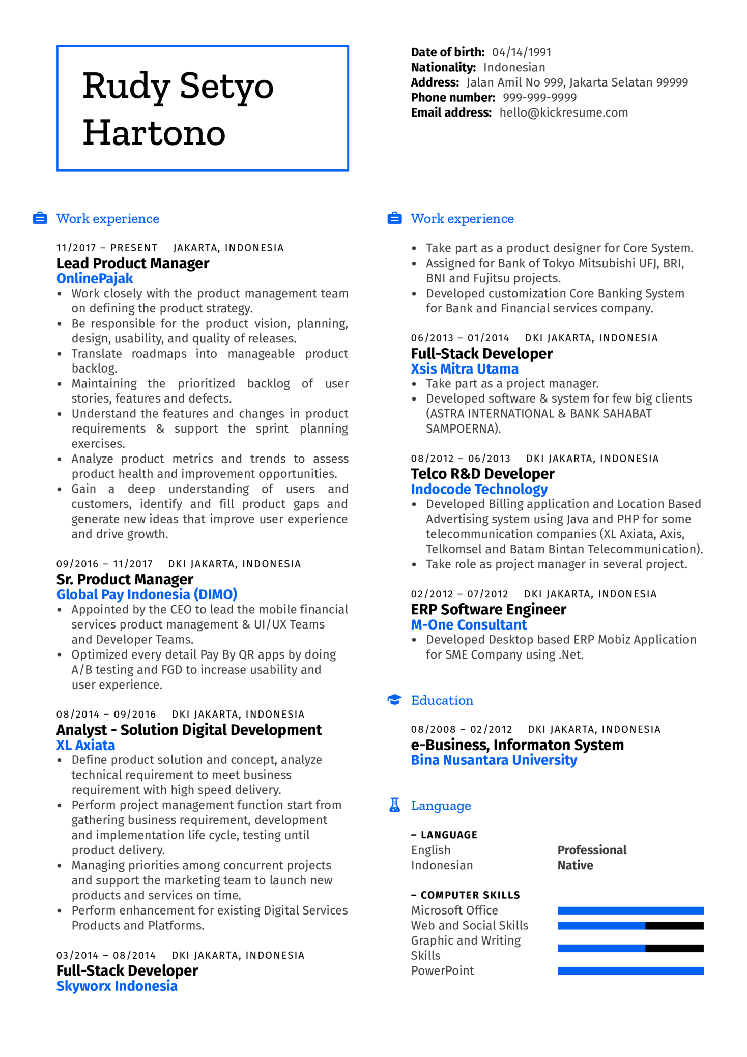 Senior Product Manager Resume Example (Part 1)