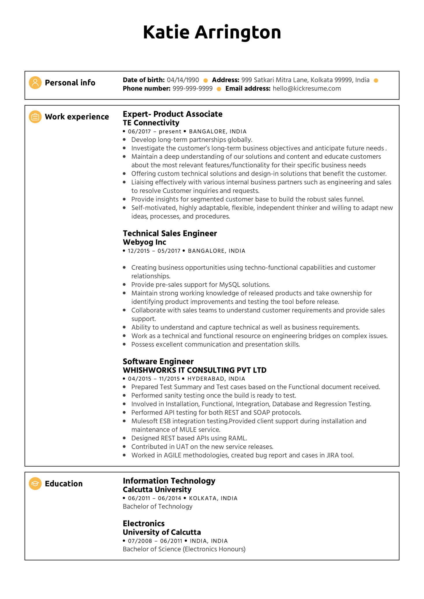 Product Analyst CV Example (parte 1)
