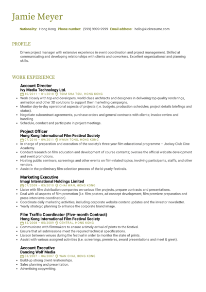 Project Manager Resume Sample (Hired)