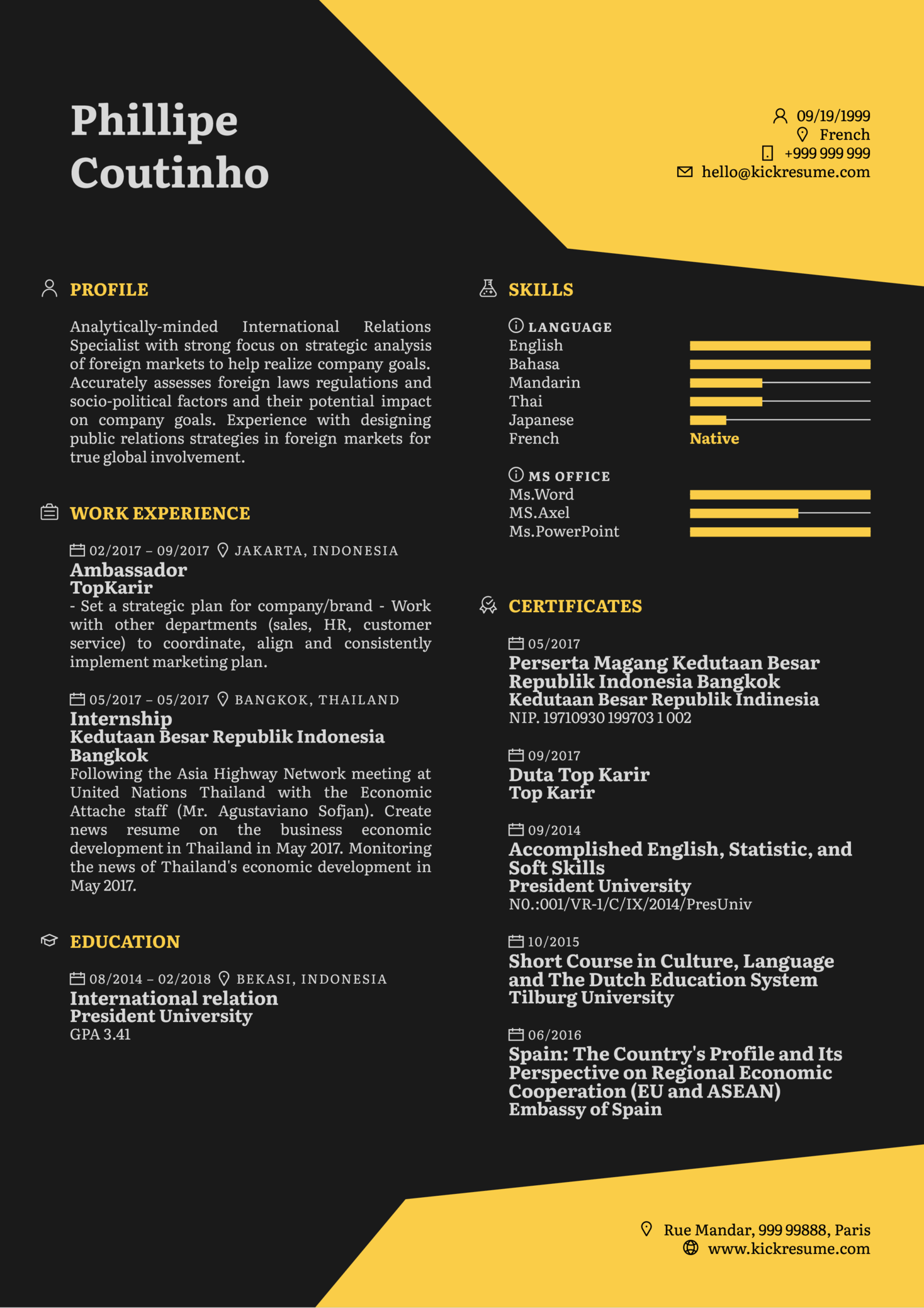 Business Analyst CV Example (Part 1)