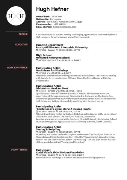 Art Curator CV Sample