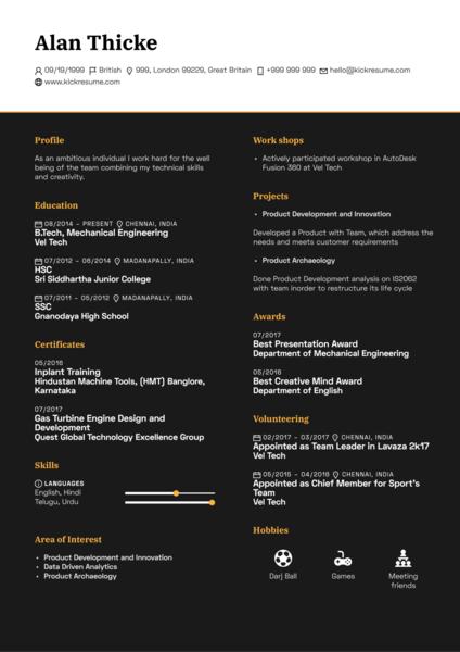 Junior Creative in Advertisement CV Sample