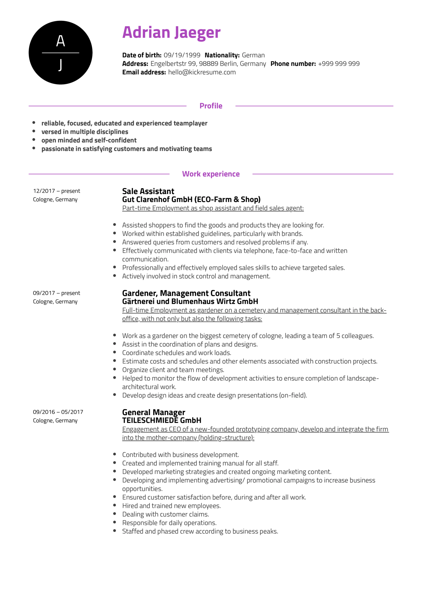 Customer Support Specialist Resume Example (Parte 1)