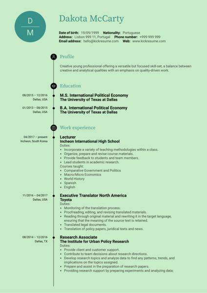 Support Analyst CV Sample