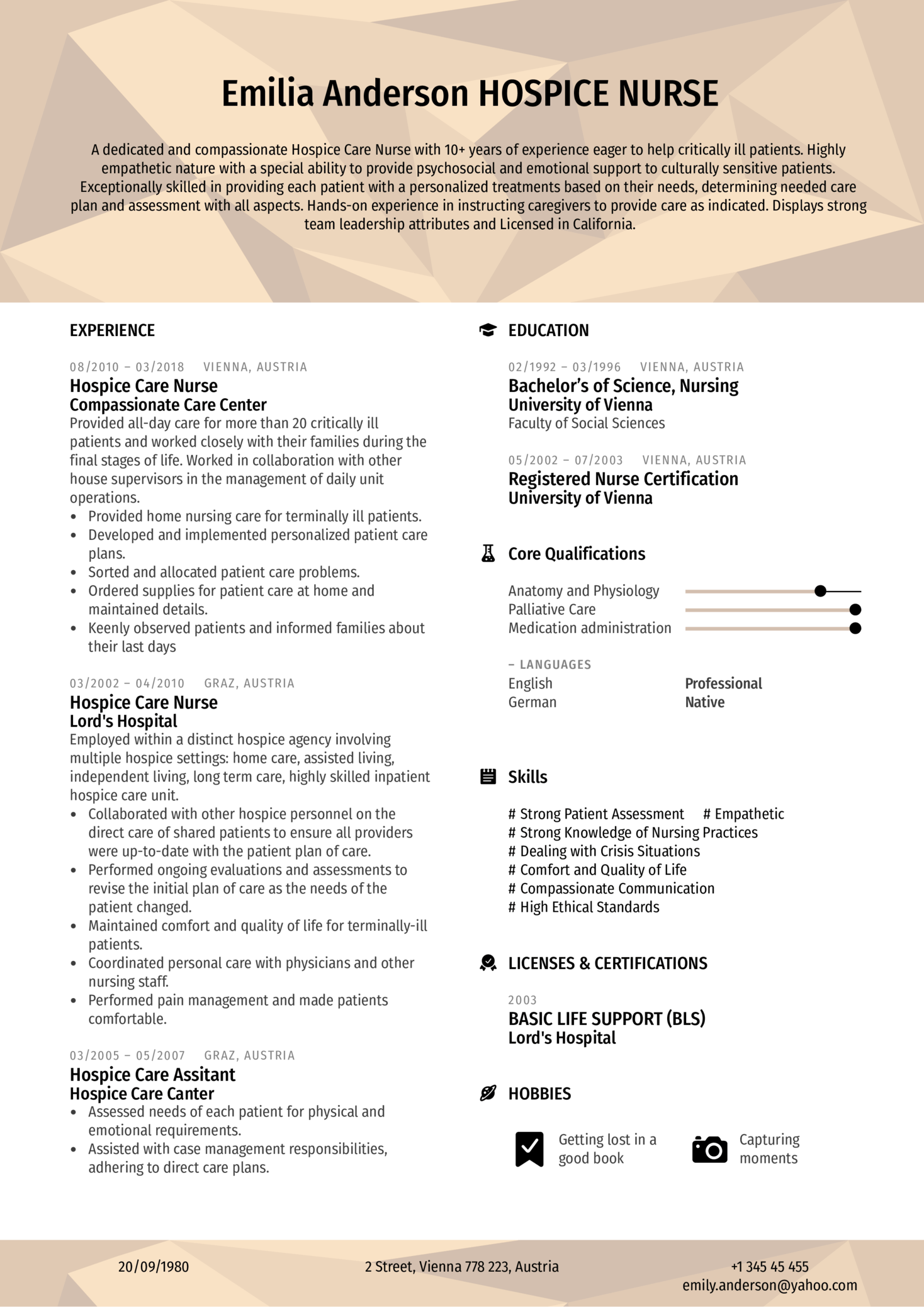 Hospice Care Nurse Resume Example (parte 1)
