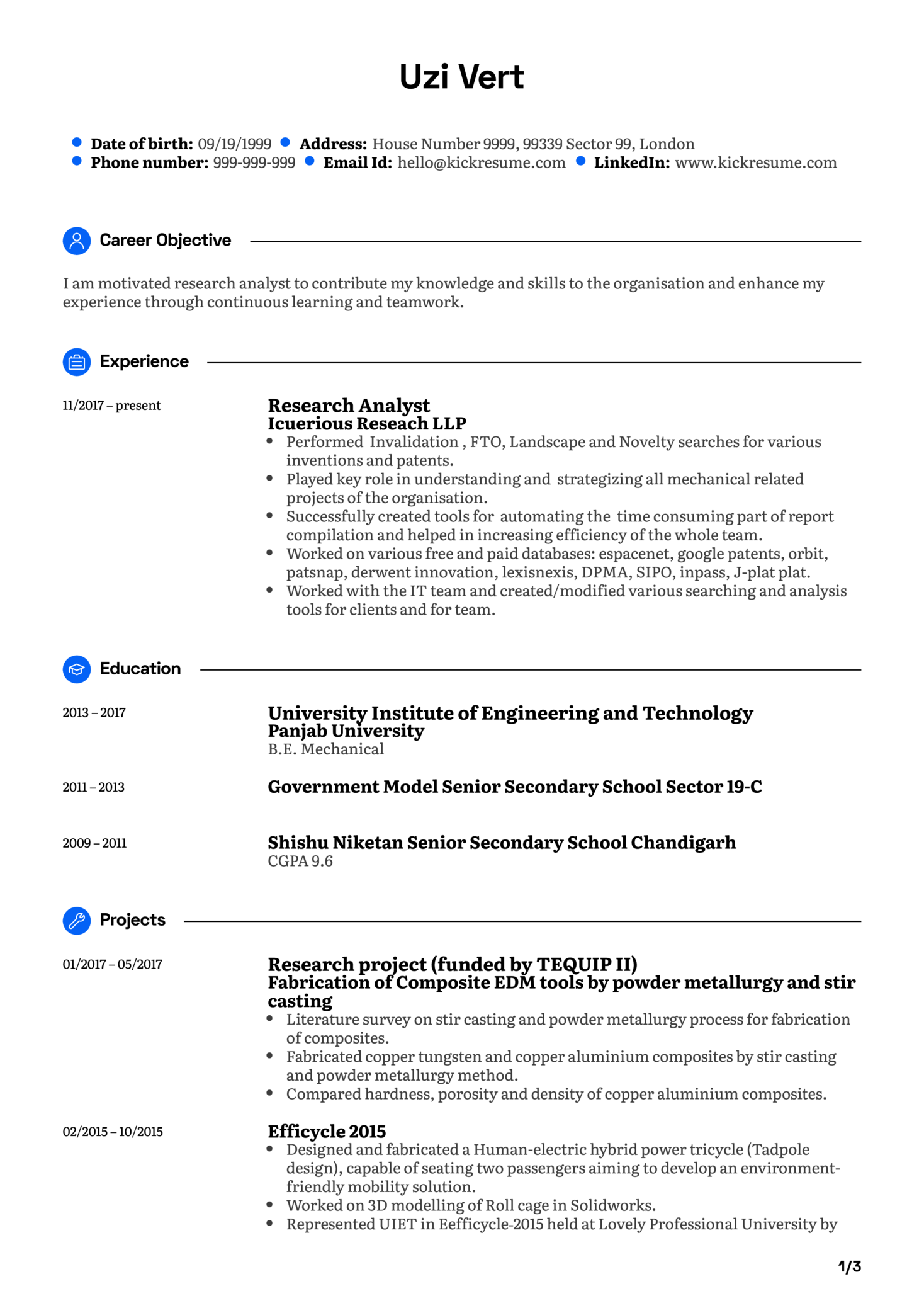 Software Analyst CV Example (Part 1)