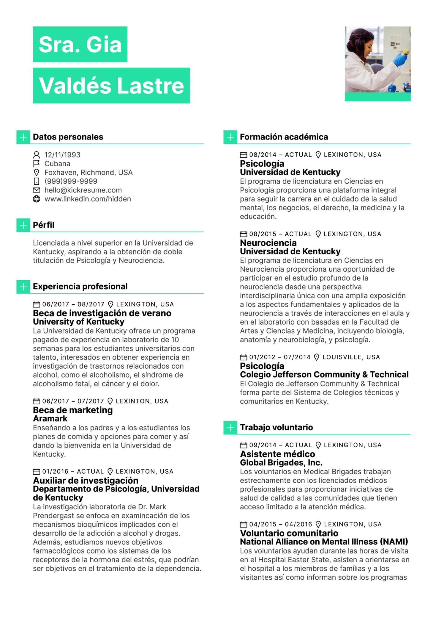 Becario de investigación verano en la Universidad currículum [ES] (parte 1)