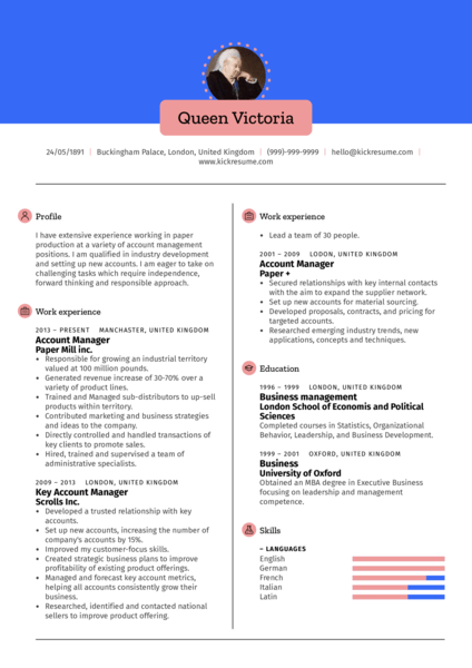 Engineering Account Manager Resume Sample