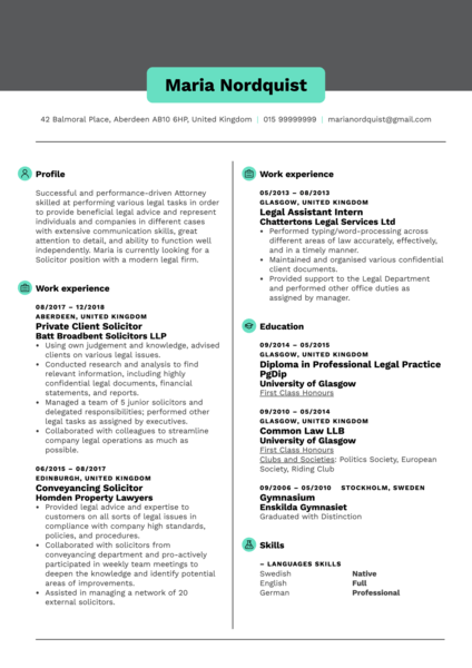 Solicitor Resume Template