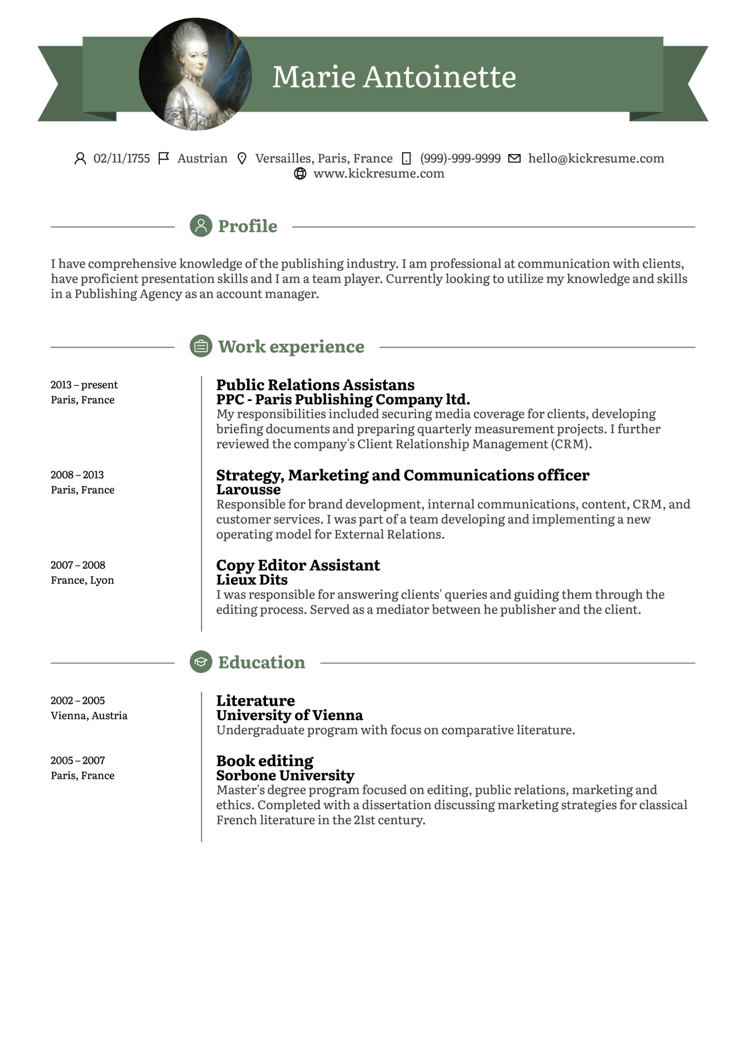 Entry Level Account Manager Resume Sample (Part 1)