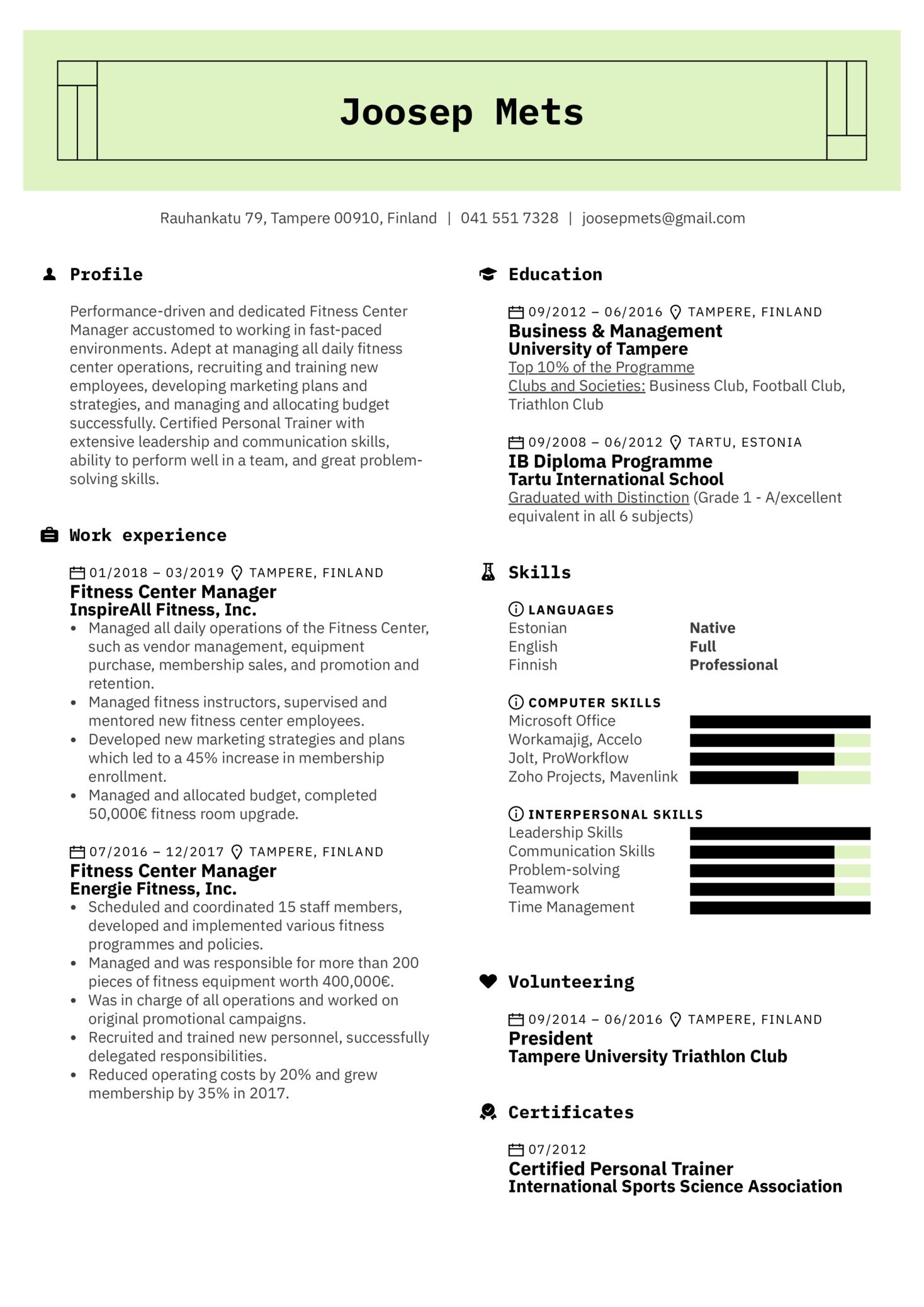 Fitness Center Manager Sample (Parte 1)