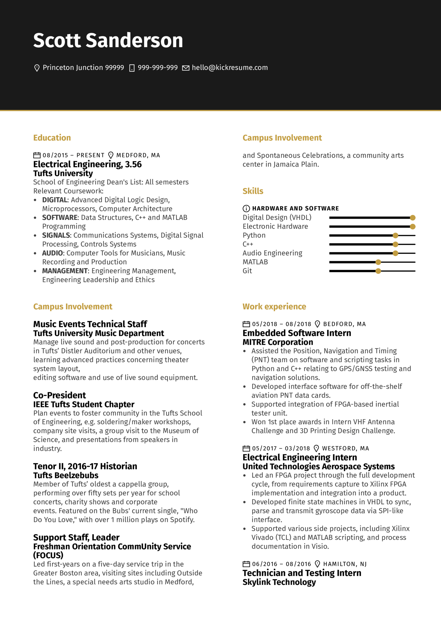 Junior Software Engineer Resume Example (Part 1)