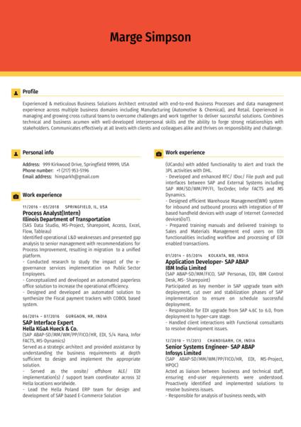 Senior Business Analyst Resume Sample