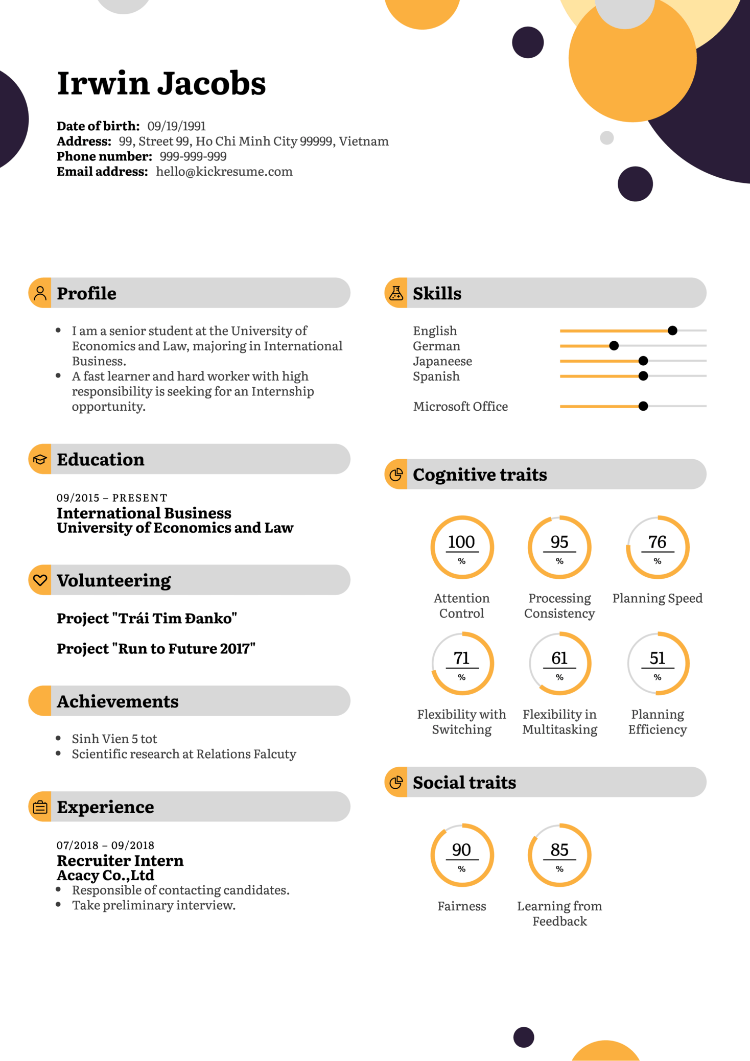 Human Resources Intern Resume Example (parte 1)