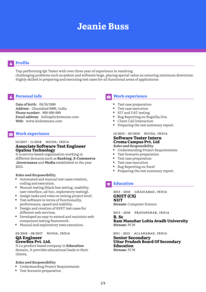 Quality Assurance Consultant Resume Sample