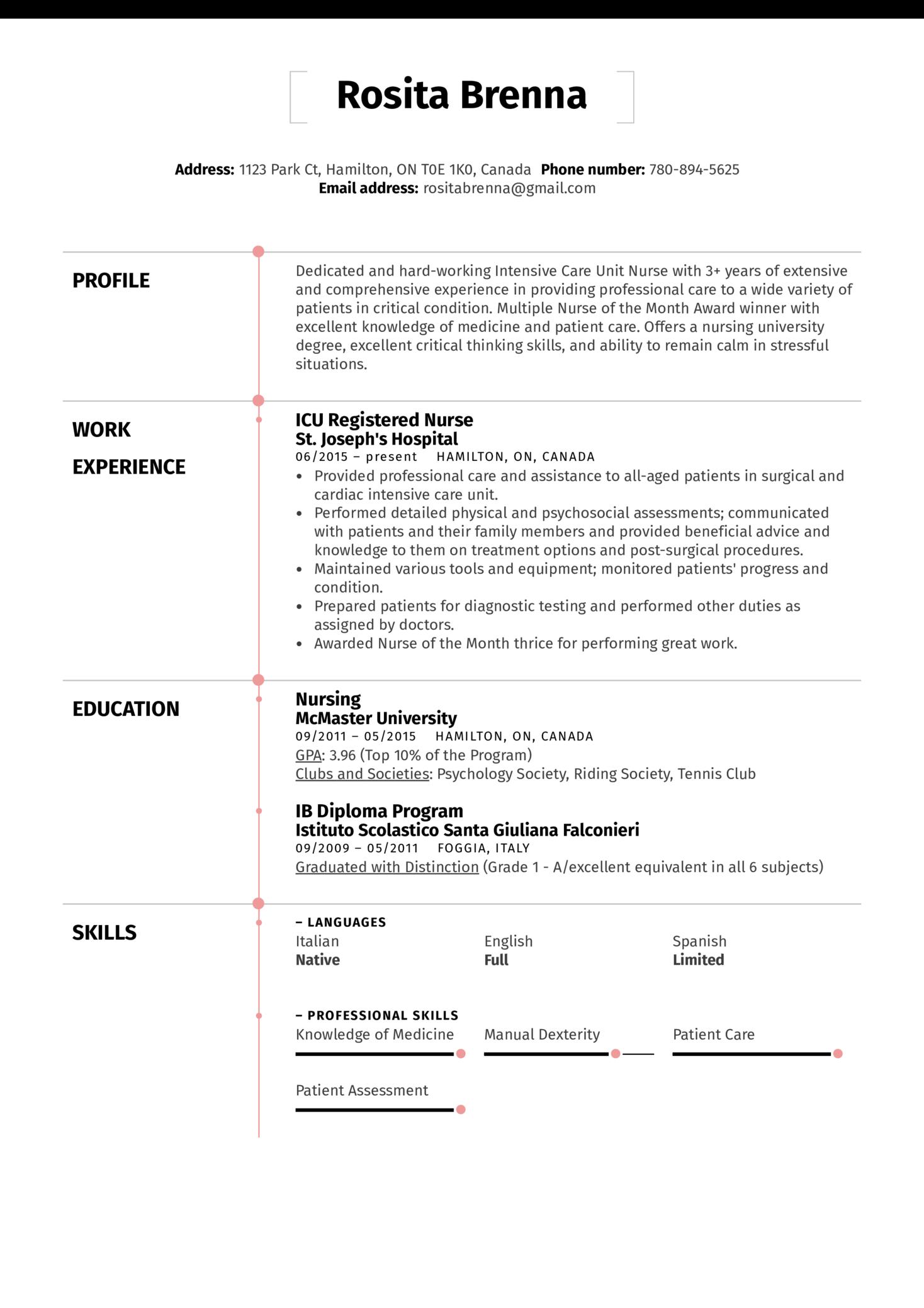 ICU Registered Nurse Resume Example (Part 1)