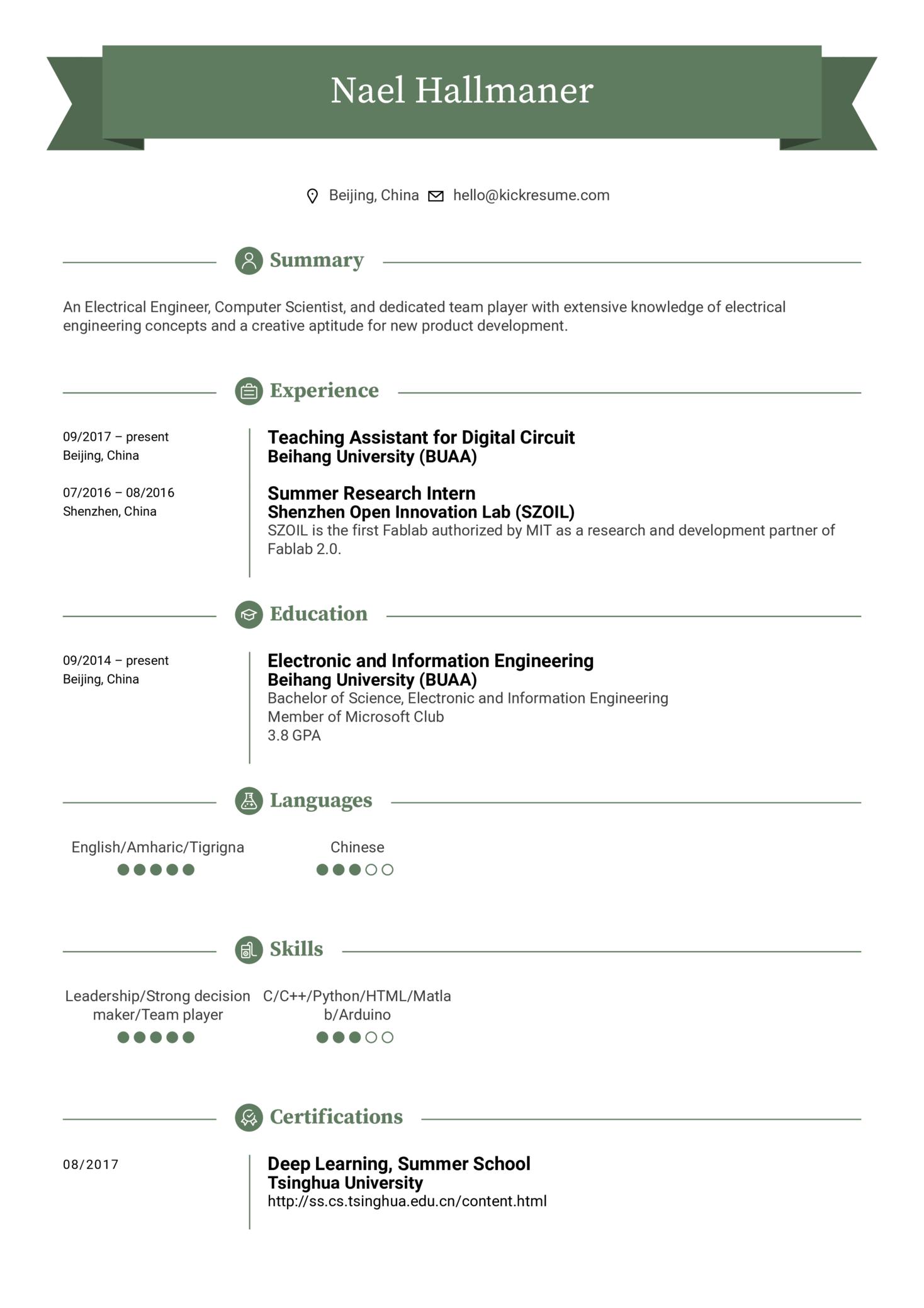 Teaching Assistant Resume Sample (parte 1)