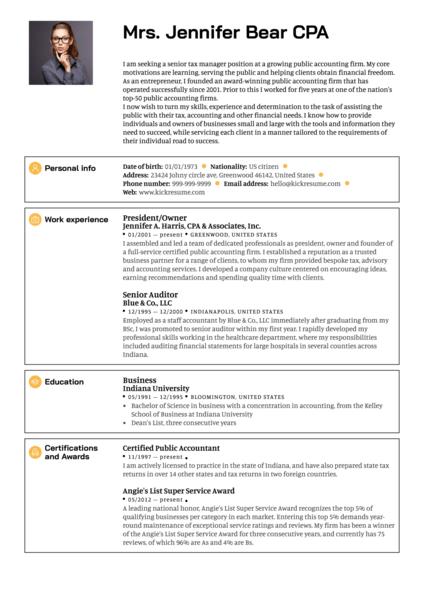 Senior Manager Resume Sample