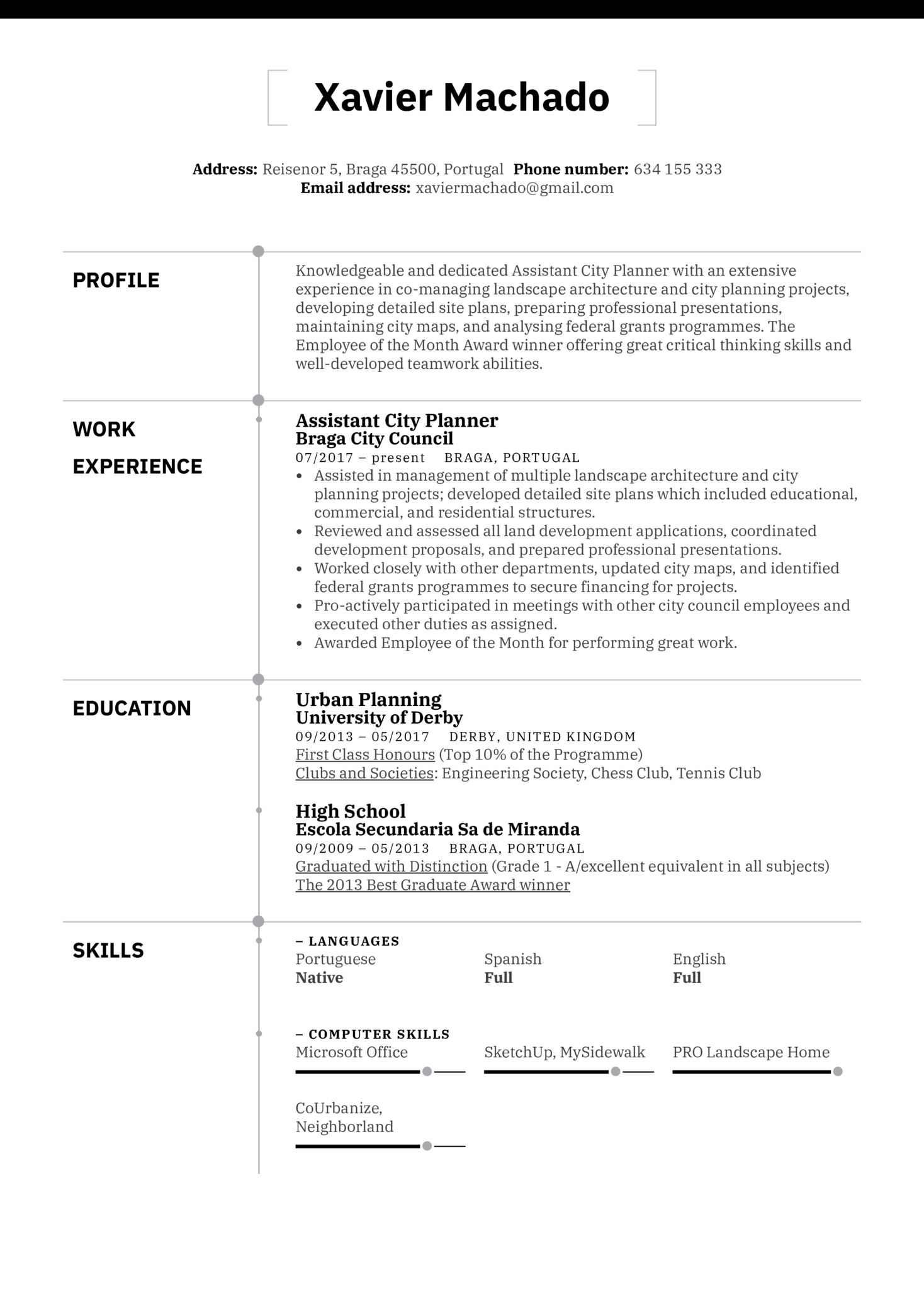 Assistant City Planner Resume Example (parte 1)